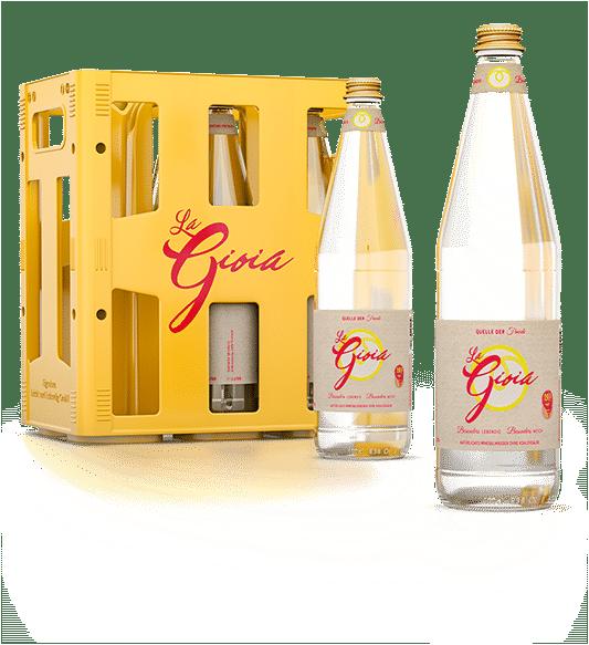 stilles Mineralwasser La Gioia 6er Kiste mit Flaschen